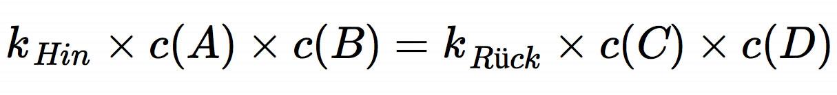 khin x ca x cb krueck - Massenwirkungsgesetz Beispiel
